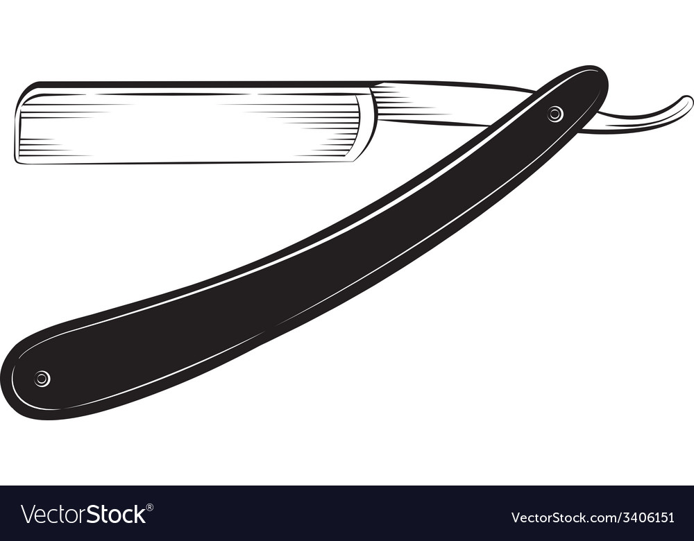 Straight razor on a white background vector | Price: 1 Credit (USD $1)