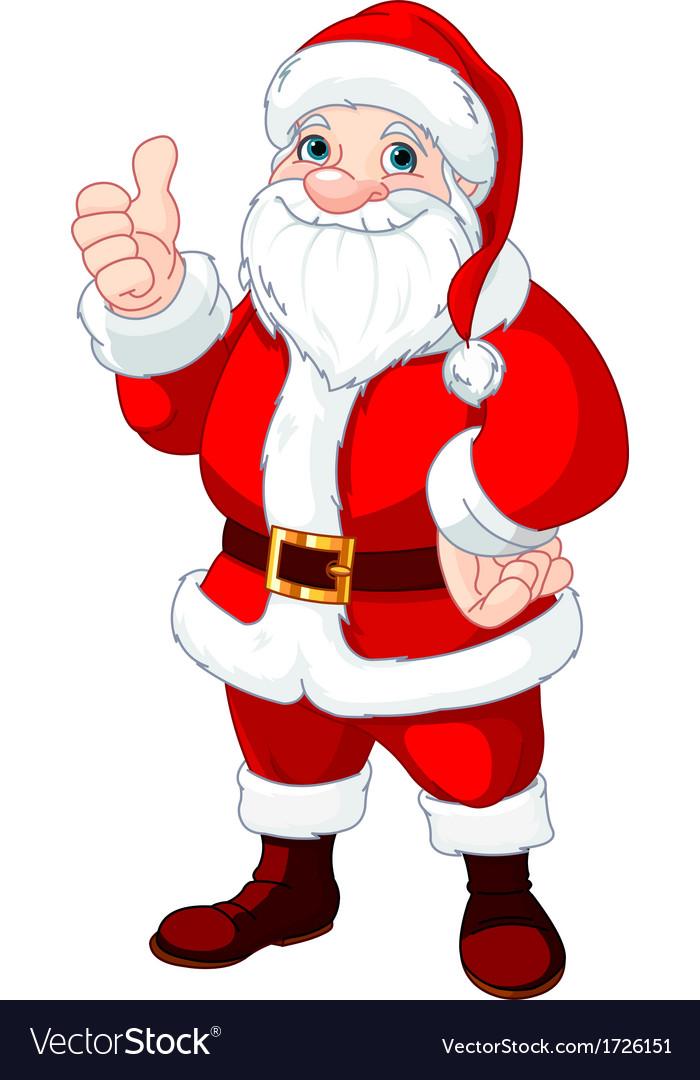 Thumbs up santa claus vector | Price: 1 Credit (USD $1)