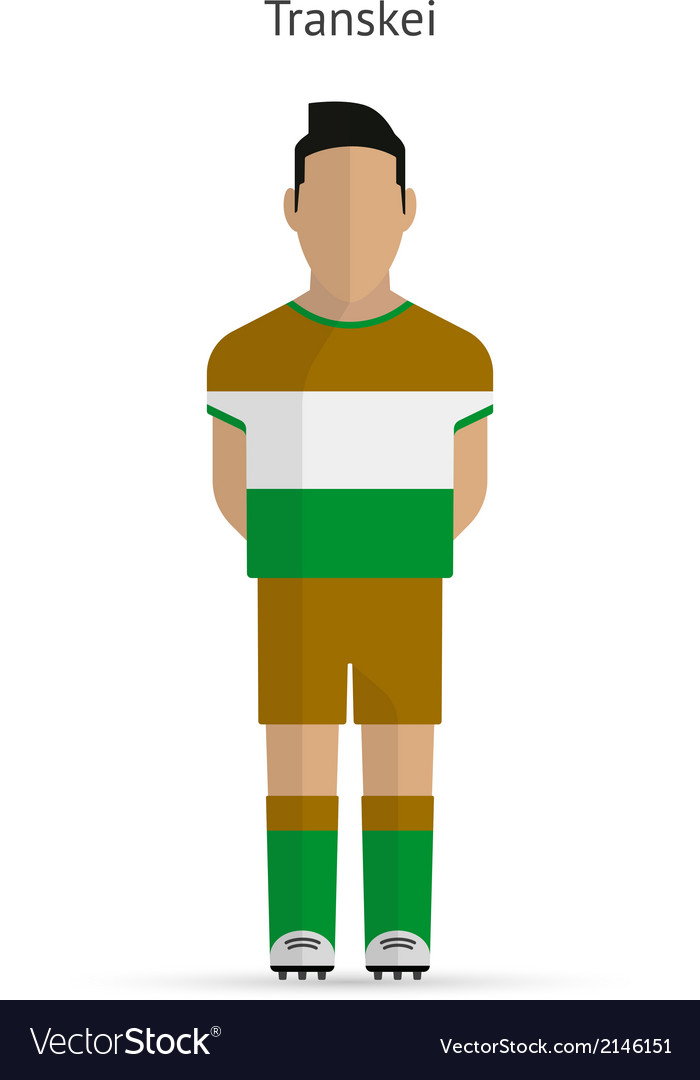 Transkei football player soccer uniform vector | Price: 1 Credit (USD $1)