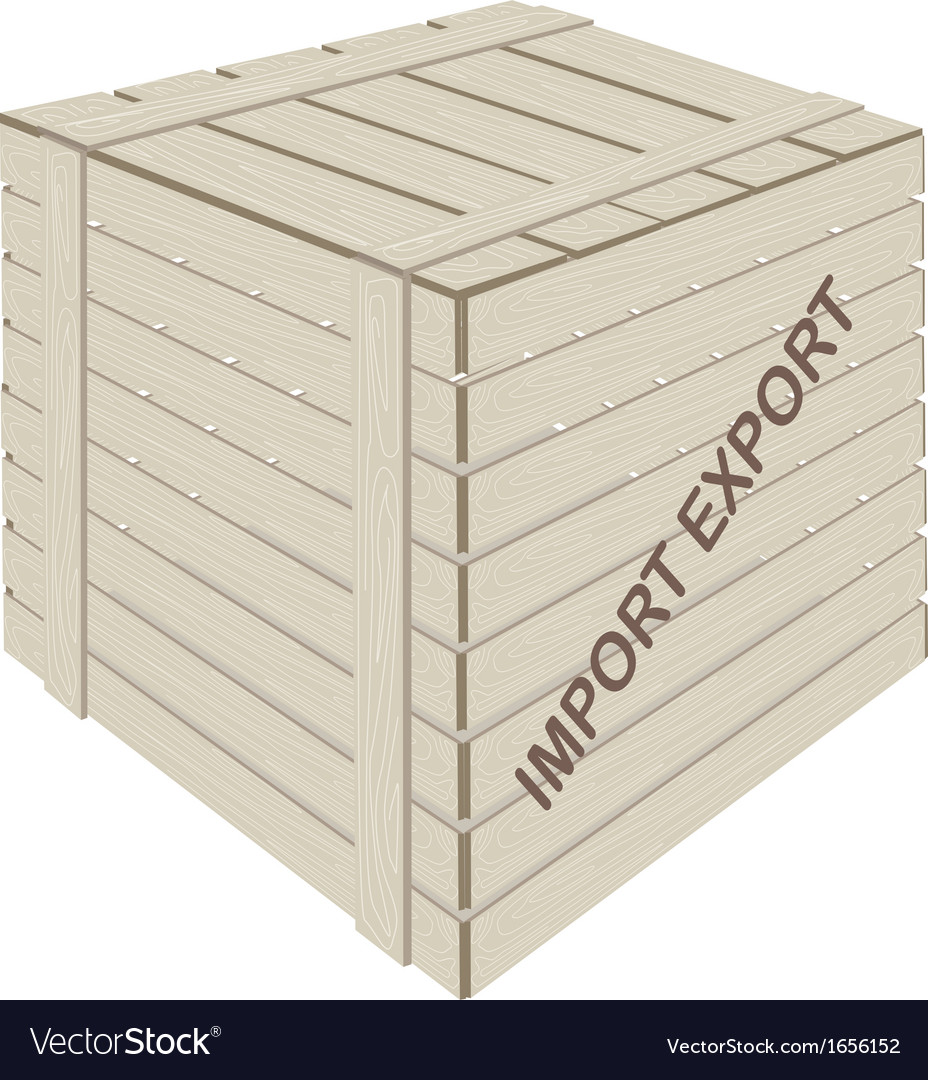 A wooden cargo box for freight transportation vector | Price: 1 Credit (USD $1)