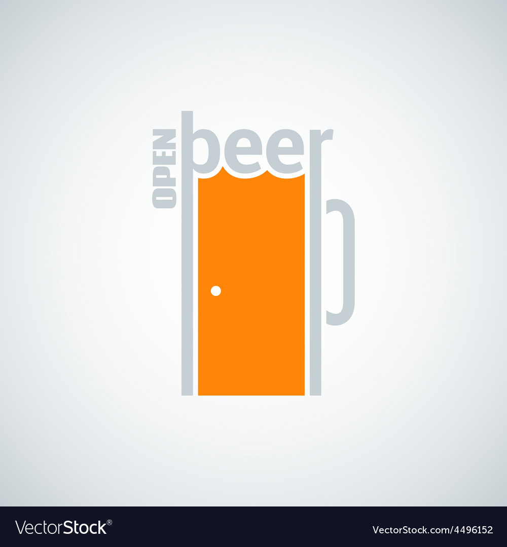 Beer mug door concept background vector | Price: 1 Credit (USD $1)
