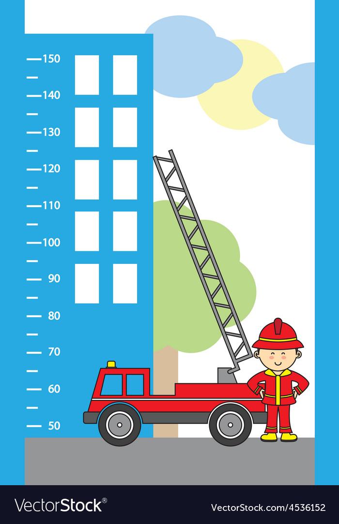 Fire truck vector | Price: 1 Credit (USD $1)