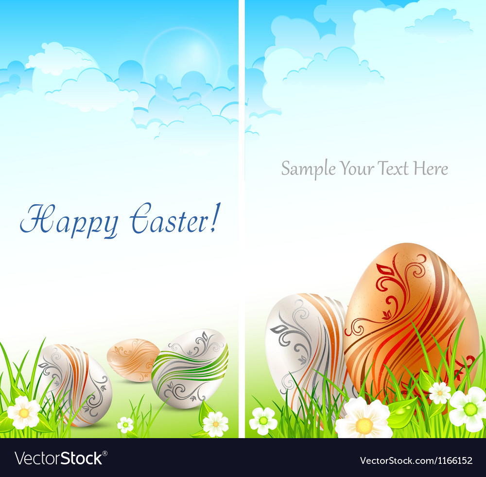 Happy easter card 10 v vector   Price: 1 Credit (USD $1)