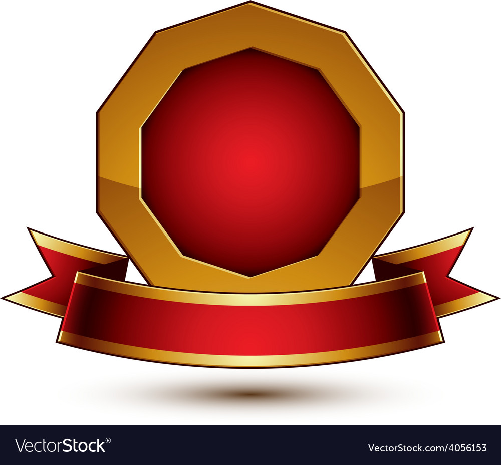 3d classic royal symbol sophisticated golden ring vector | Price: 1 Credit (USD $1)