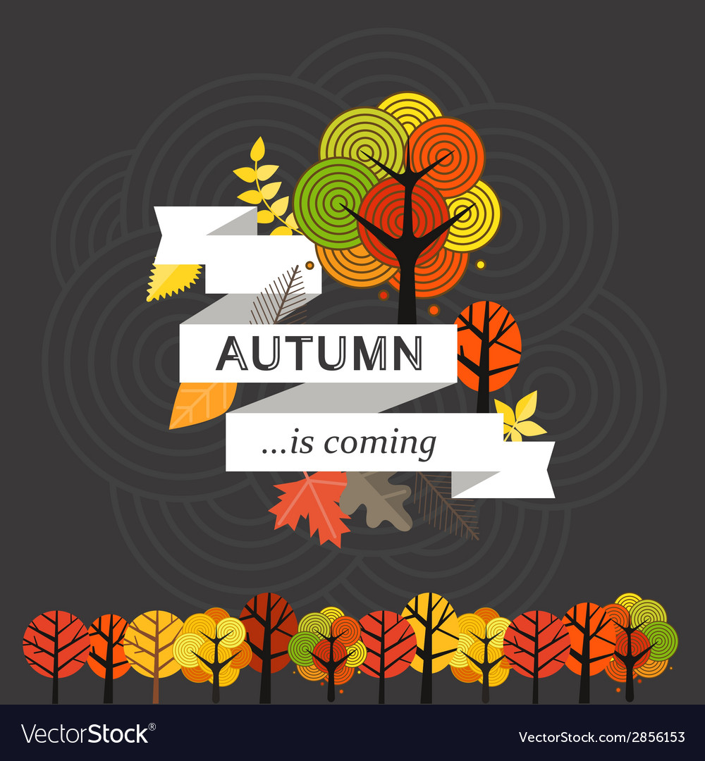 Autumn is coming concept vector | Price: 1 Credit (USD $1)