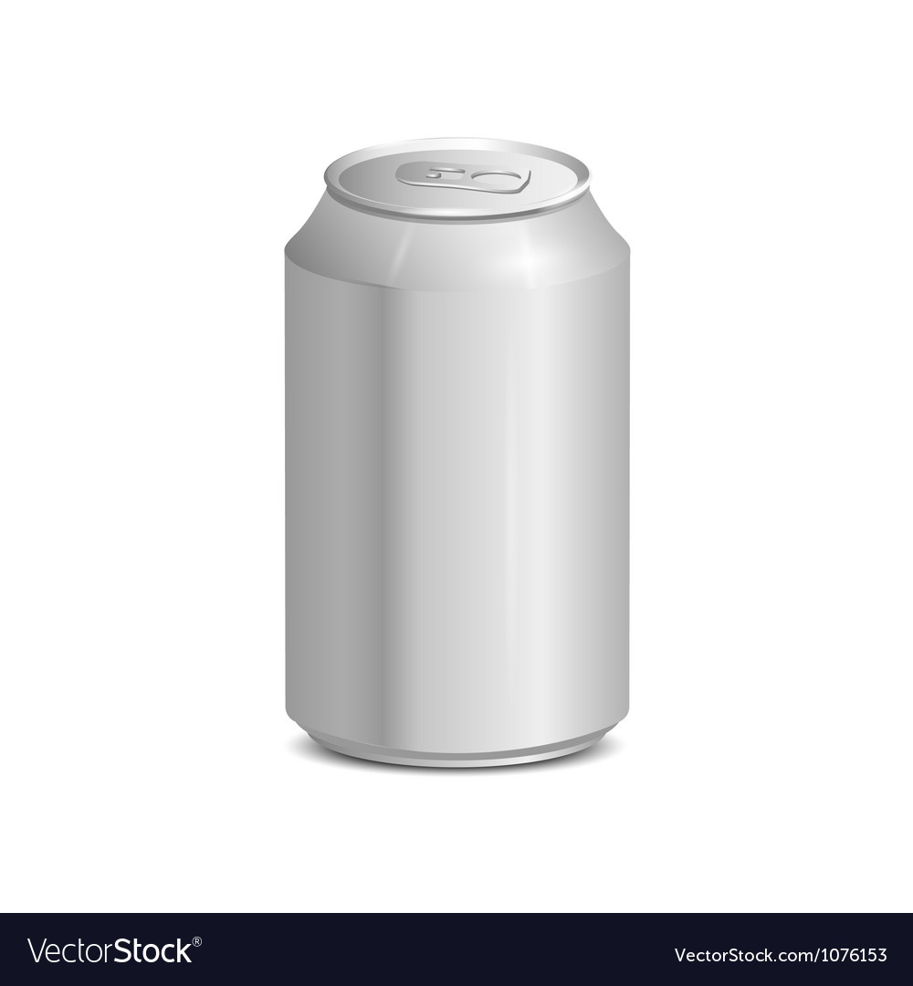 Blank aluminum can vector | Price: 1 Credit (USD $1)