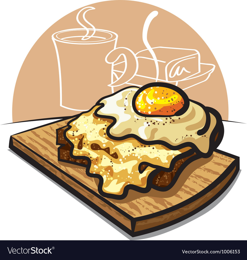 Cheese toast vector | Price: 3 Credit (USD $3)