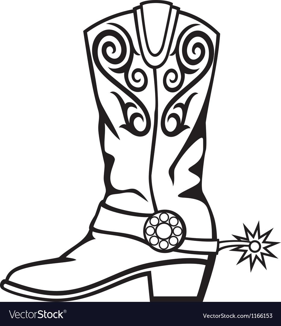 Cowboy boot vector | Price: 1 Credit (USD $1)