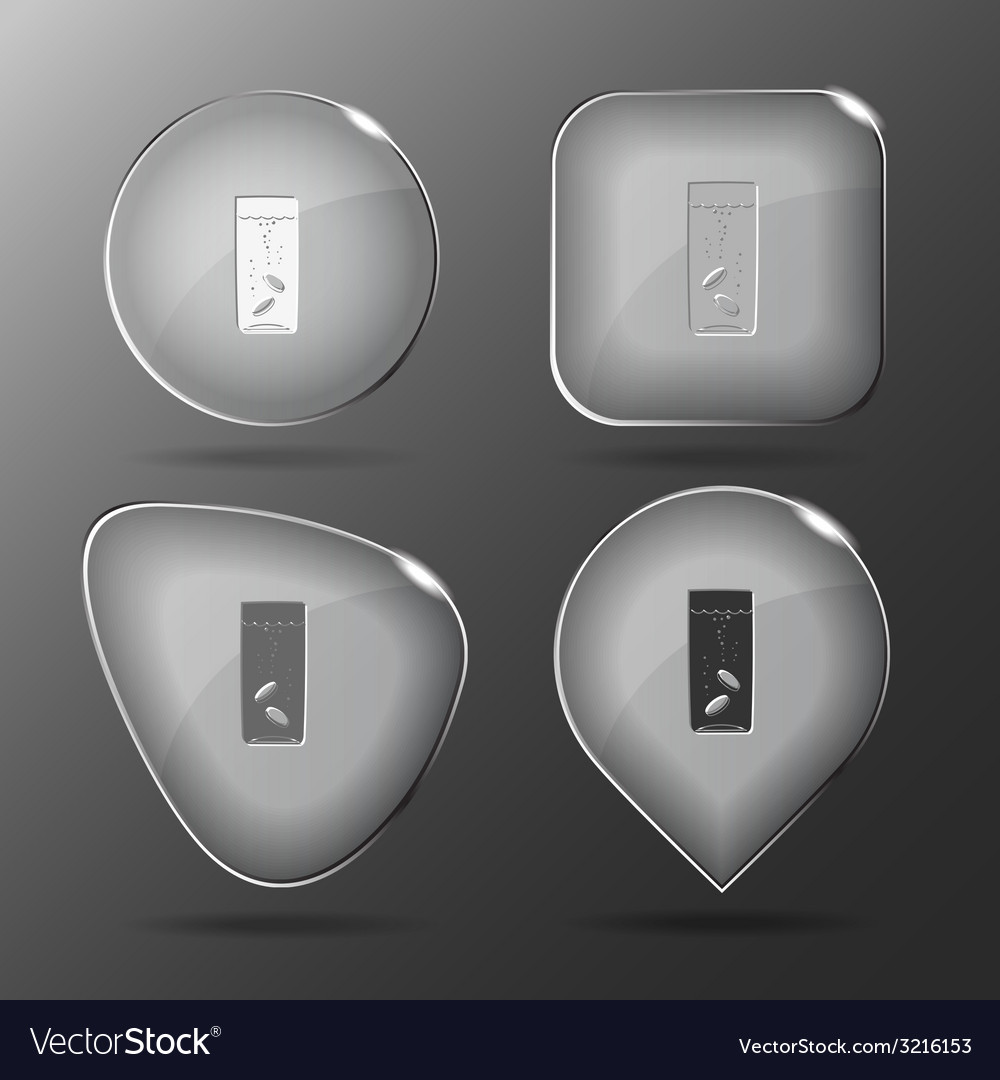 Glass with tablets glass buttons vector | Price: 1 Credit (USD $1)