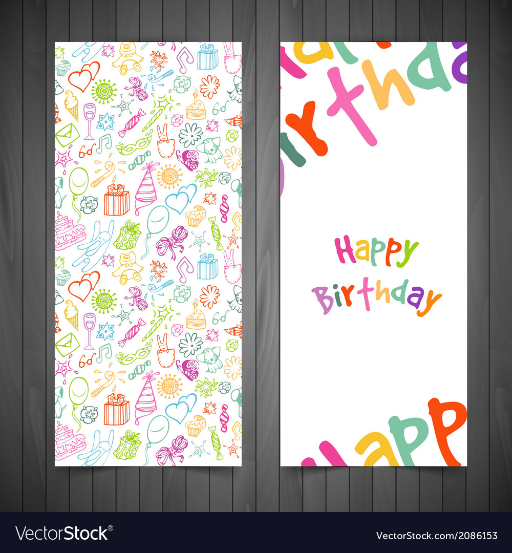 Happy birthday cards vector