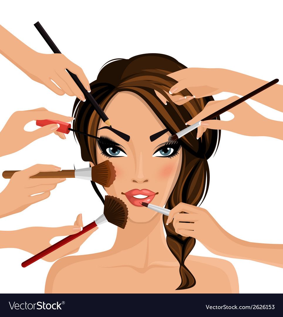 Make up concept vector | Price: 3 Credit (USD $3)
