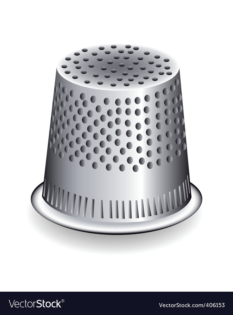 Metal thimble vector | Price: 1 Credit (USD $1)
