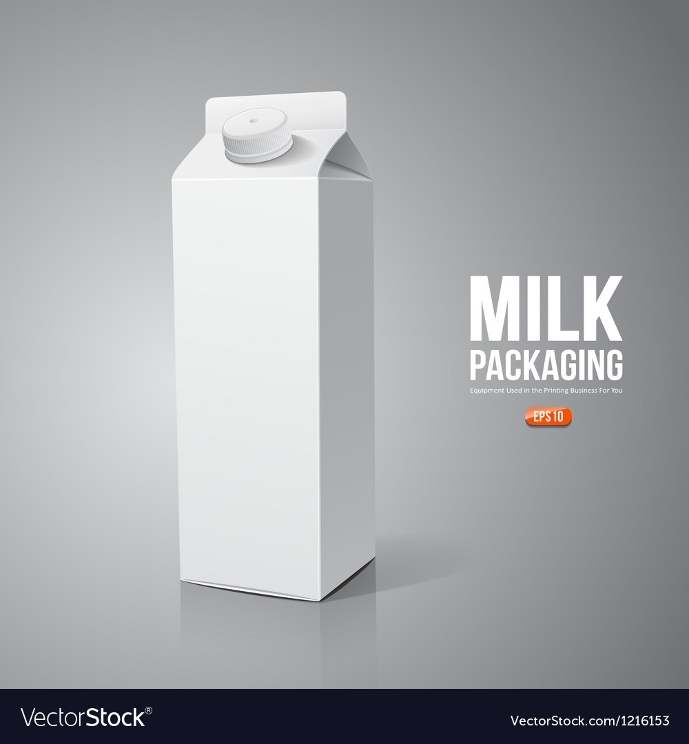 Milk box packaging design vector | Price: 3 Credit (USD $3)