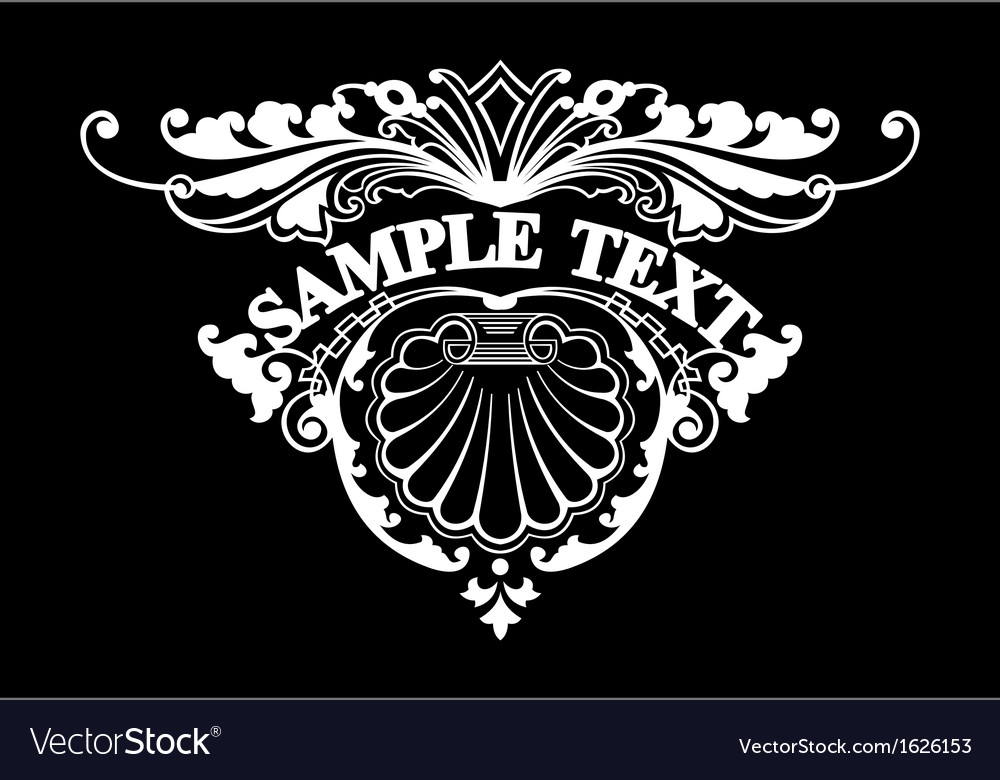 Ornate triangle text vector | Price: 1 Credit (USD $1)