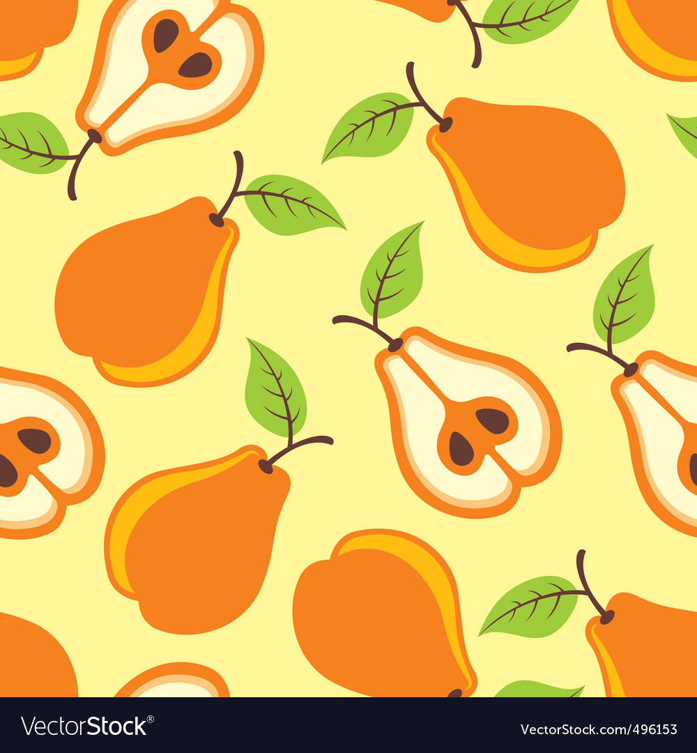 Pears seamless pattern vector | Price: 1 Credit (USD $1)