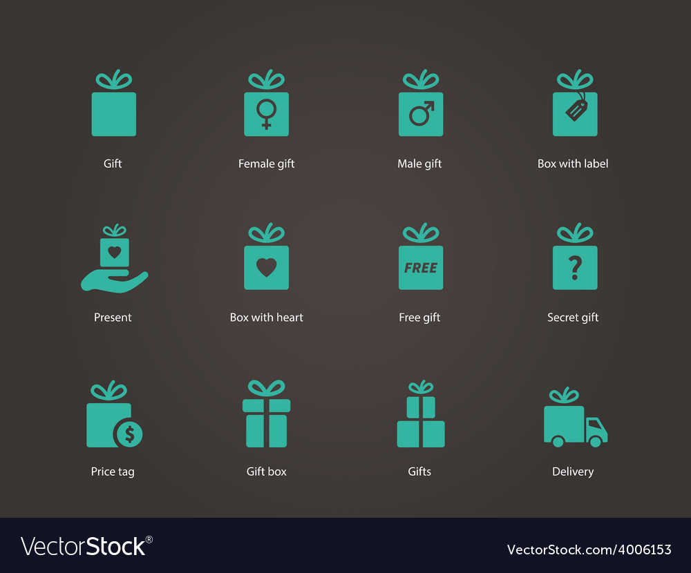 Present box icons vector | Price: 1 Credit (USD $1)