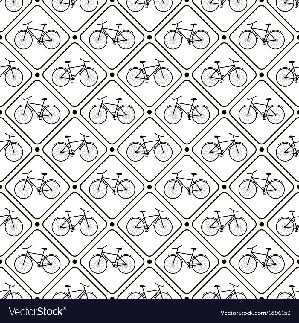 Seamless retro bicycle pattern vector | Price: 1 Credit (USD $1)