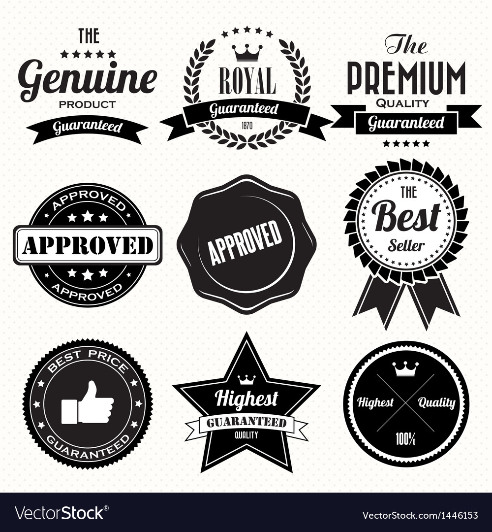 Set of retro vintage badges and labels vector | Price: 3 Credit (USD $3)