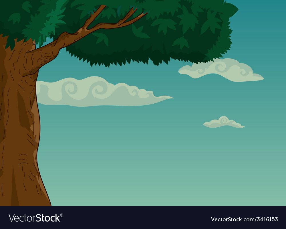 Summer landscape with trees and foliage vector | Price: 1 Credit (USD $1)