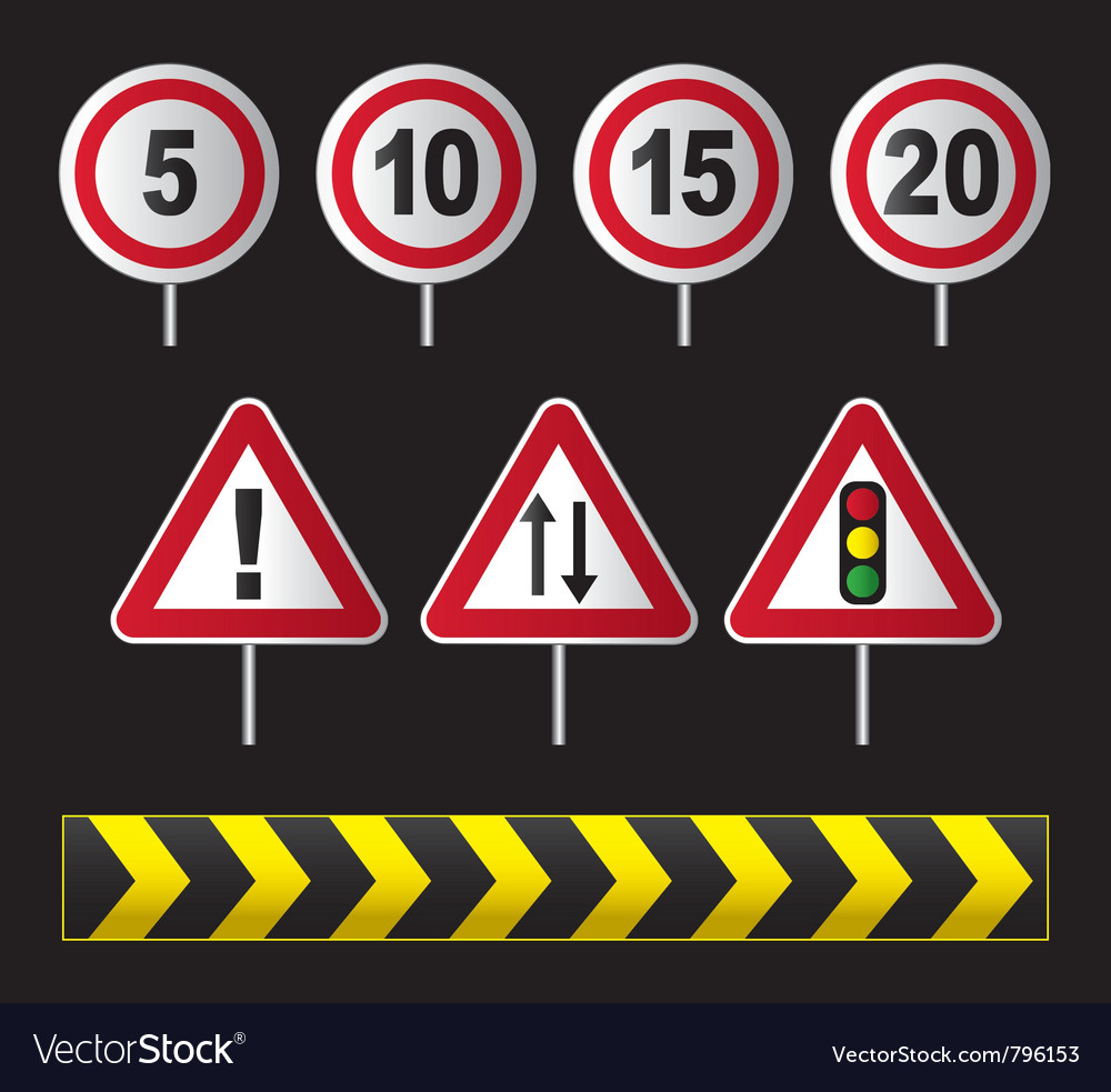 Traffic speed signs vector | Price: 1 Credit (USD $1)