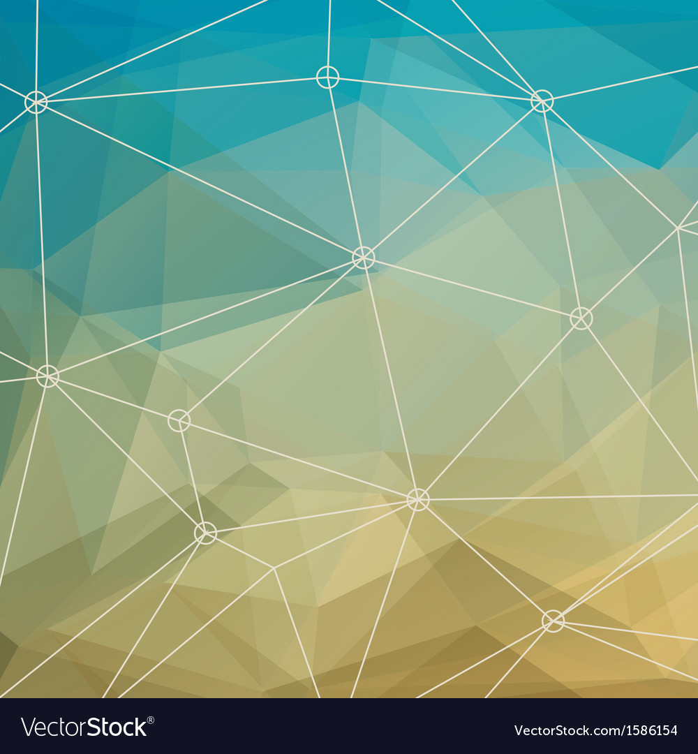 Abstract multicolored triangle background vector | Price: 1 Credit (USD $1)