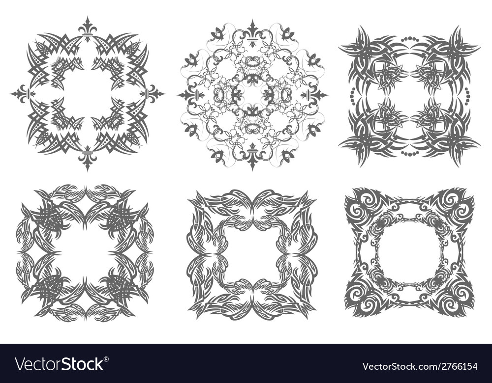 Al 0750 six ornaments vector | Price: 1 Credit (USD $1)
