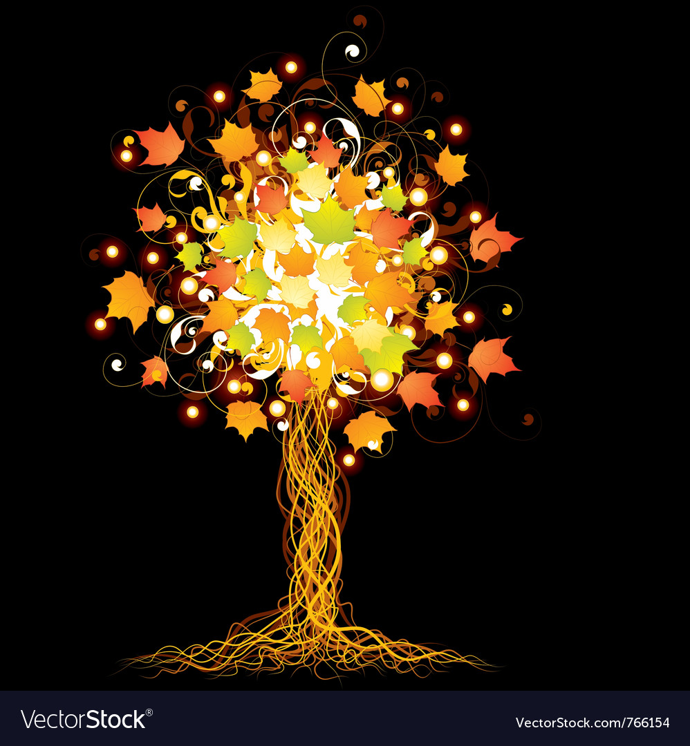 Artistic autumn tree vector | Price: 1 Credit (USD $1)