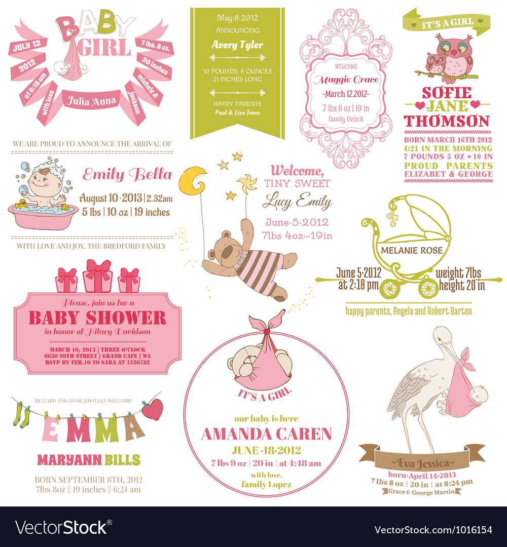 Baby arrival and shower collection vector | Price: 1 Credit (USD $1)