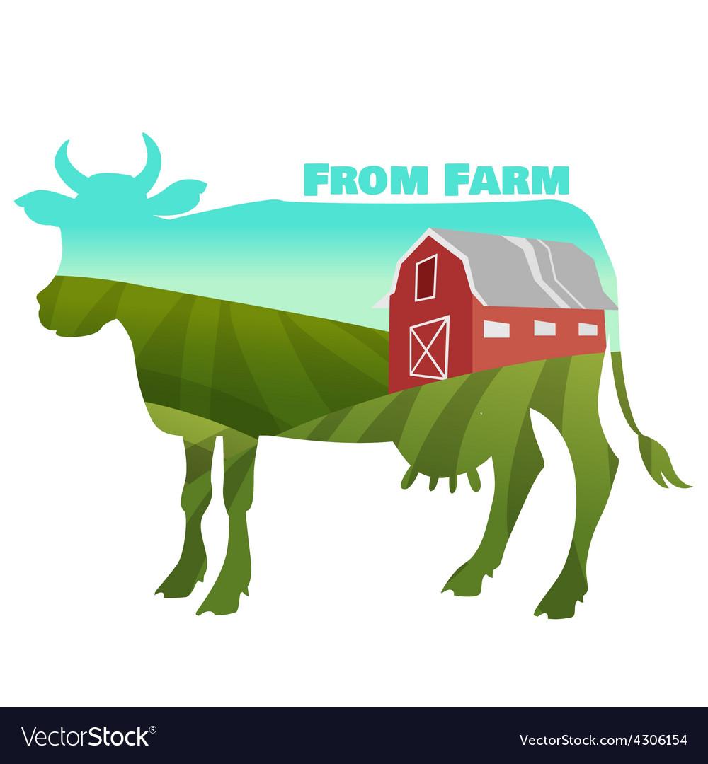 Farm landscape vector   Price: 1 Credit (USD $1)
