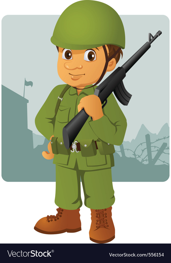 Military man vector | Price: 3 Credit (USD $3)