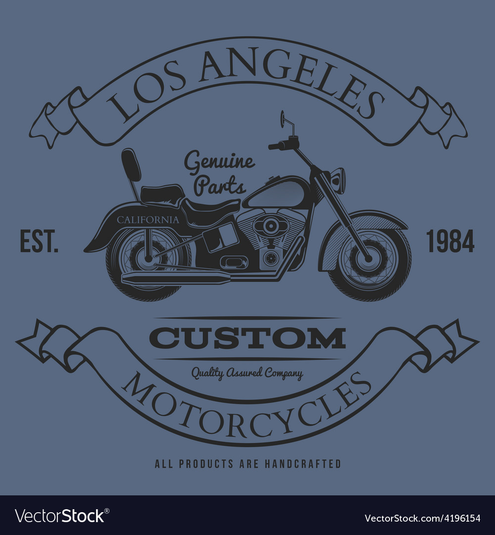 Motorcycle vintage graphics t-shirt typography vector | Price: 1 Credit (USD $1)
