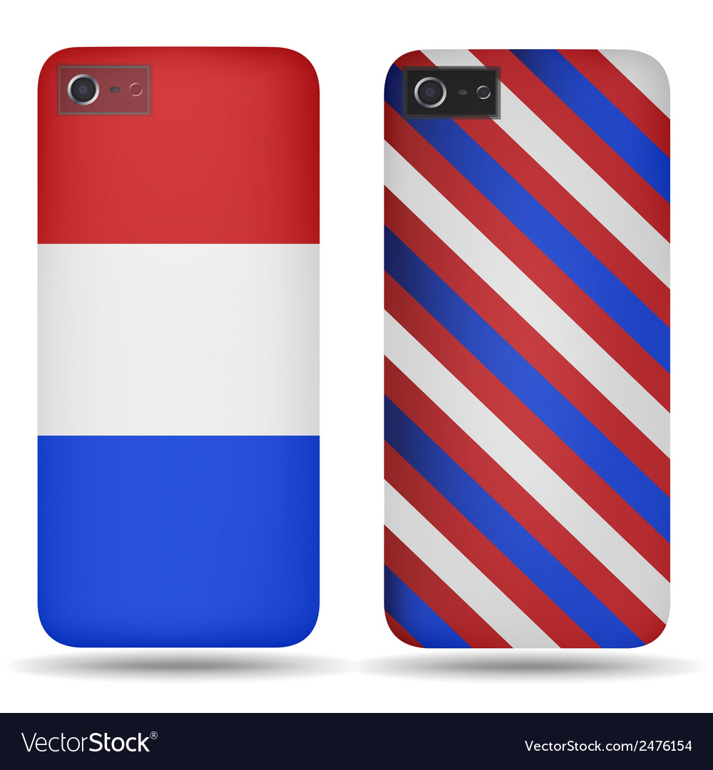 Rear covers smartphone with flags of netherlands vector | Price: 1 Credit (USD $1)