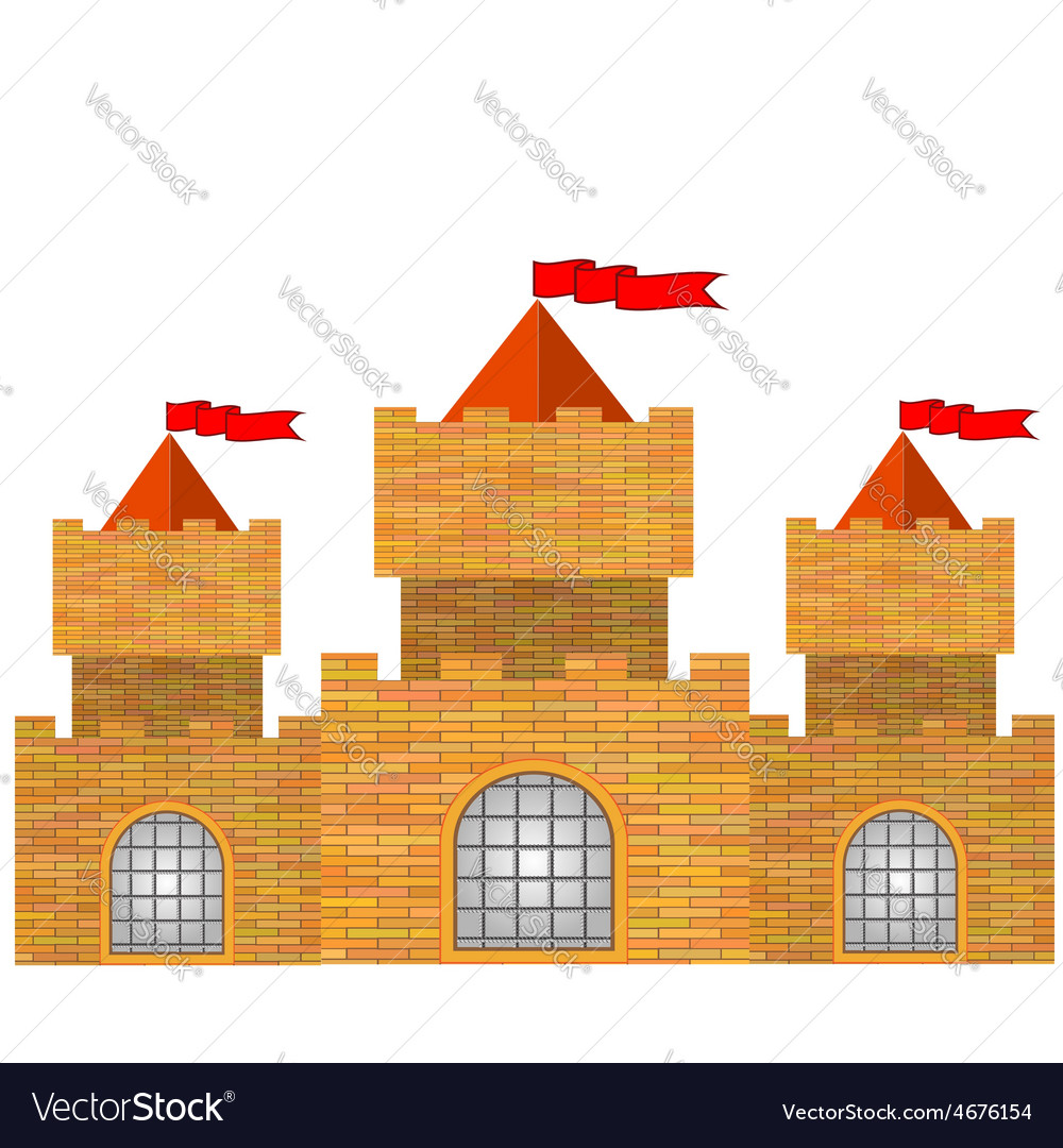 Red brick castle vector | Price: 1 Credit (USD $1)
