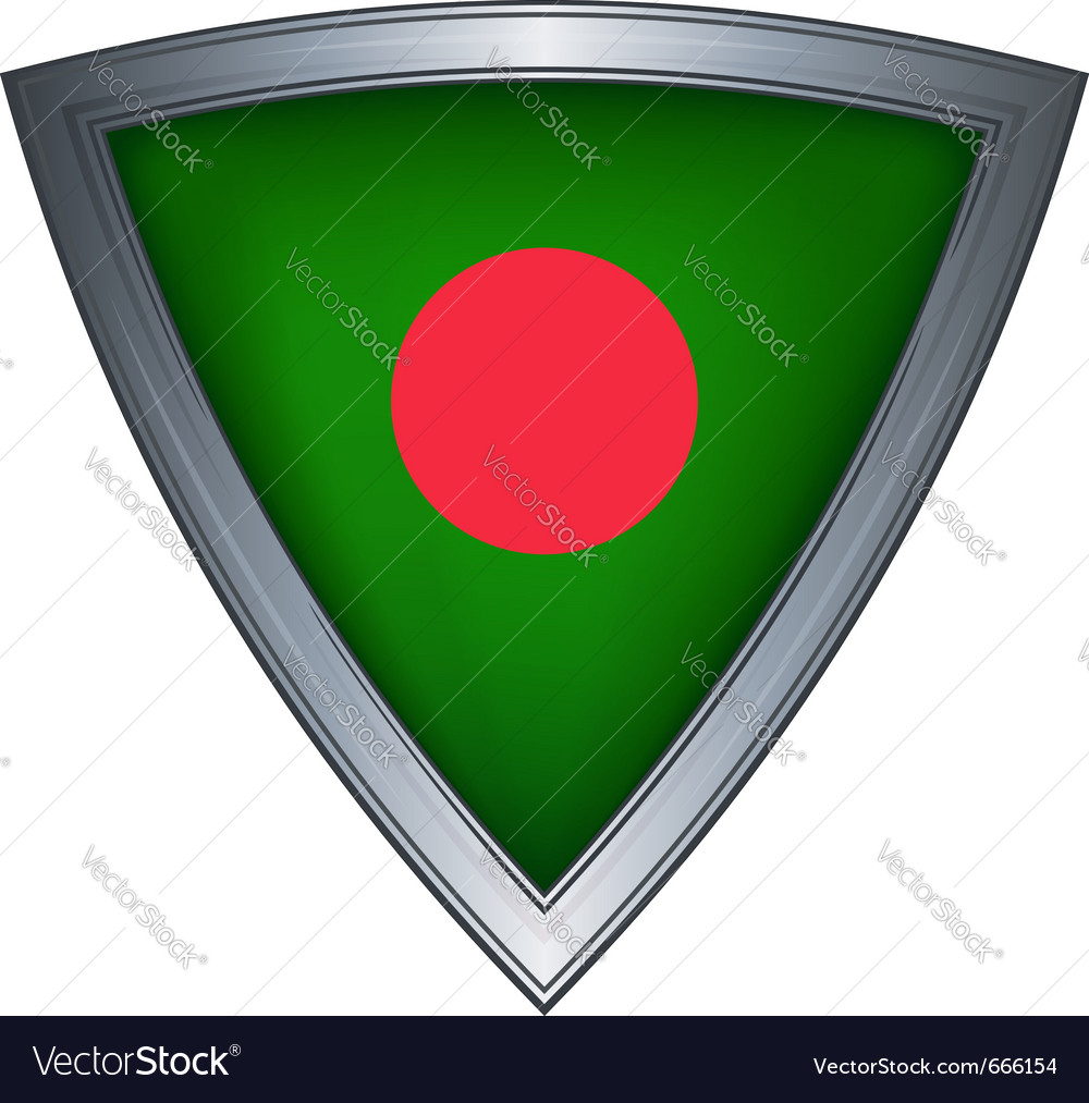 Steel shield with flag bangladesh vector | Price: 1 Credit (USD $1)