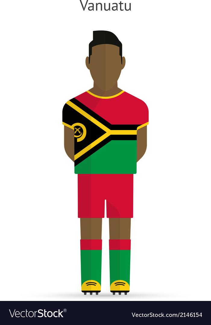 Vanuatu football player soccer uniform vector | Price: 1 Credit (USD $1)