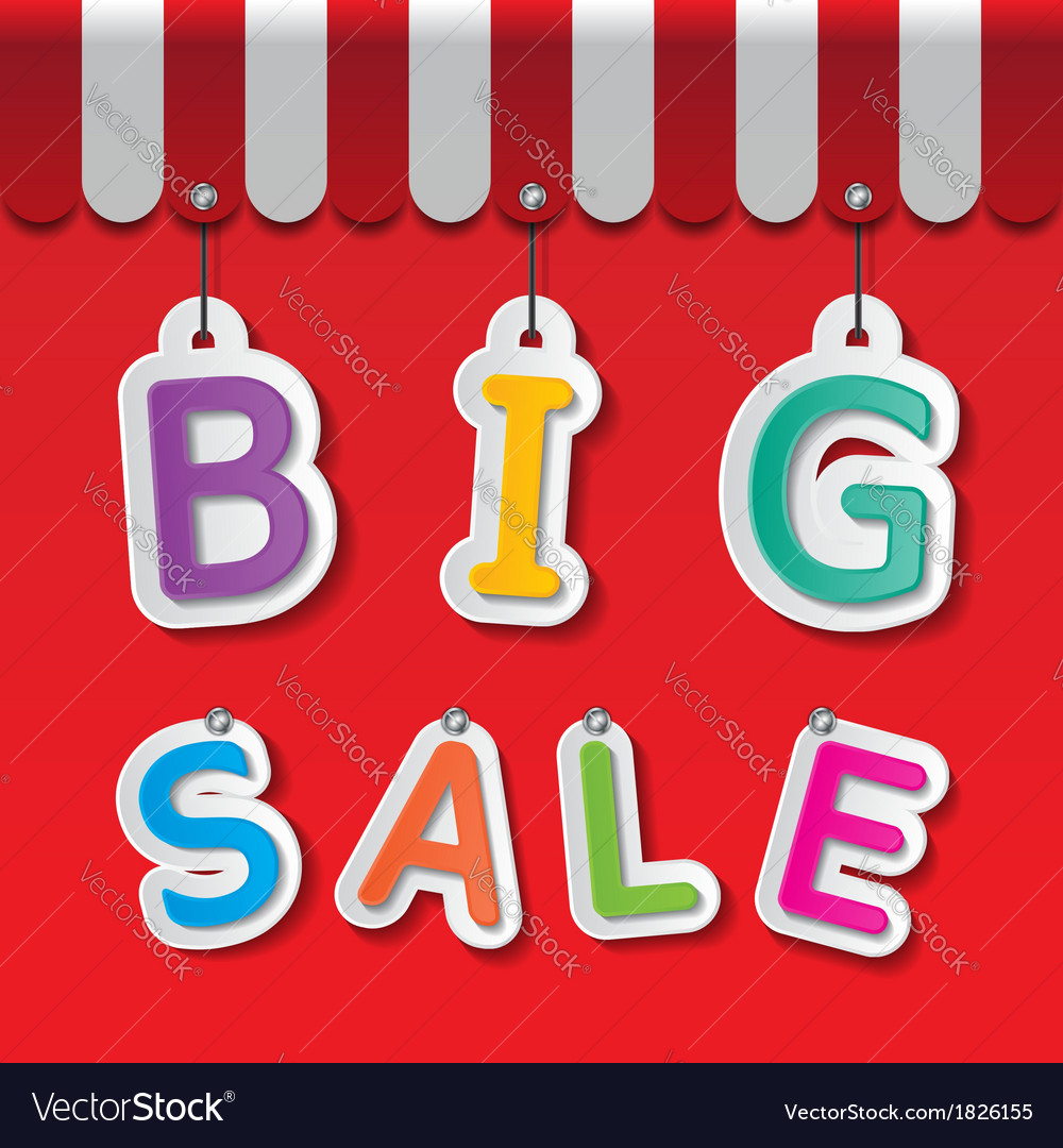 Big sale tag vector | Price: 1 Credit (USD $1)