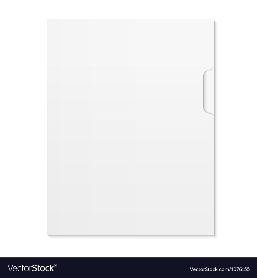 Blank document and folder isolated on white vector | Price: 1 Credit (USD $1)