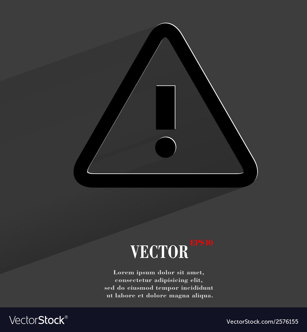 Danger exclamation mark flat modern web button vector | Price: 1 Credit (USD $1)