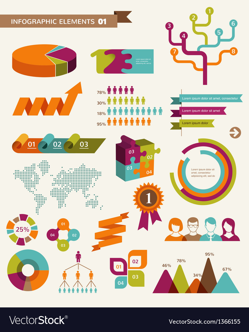 Elements and icons of infographics vector | Price: 3 Credit (USD $3)