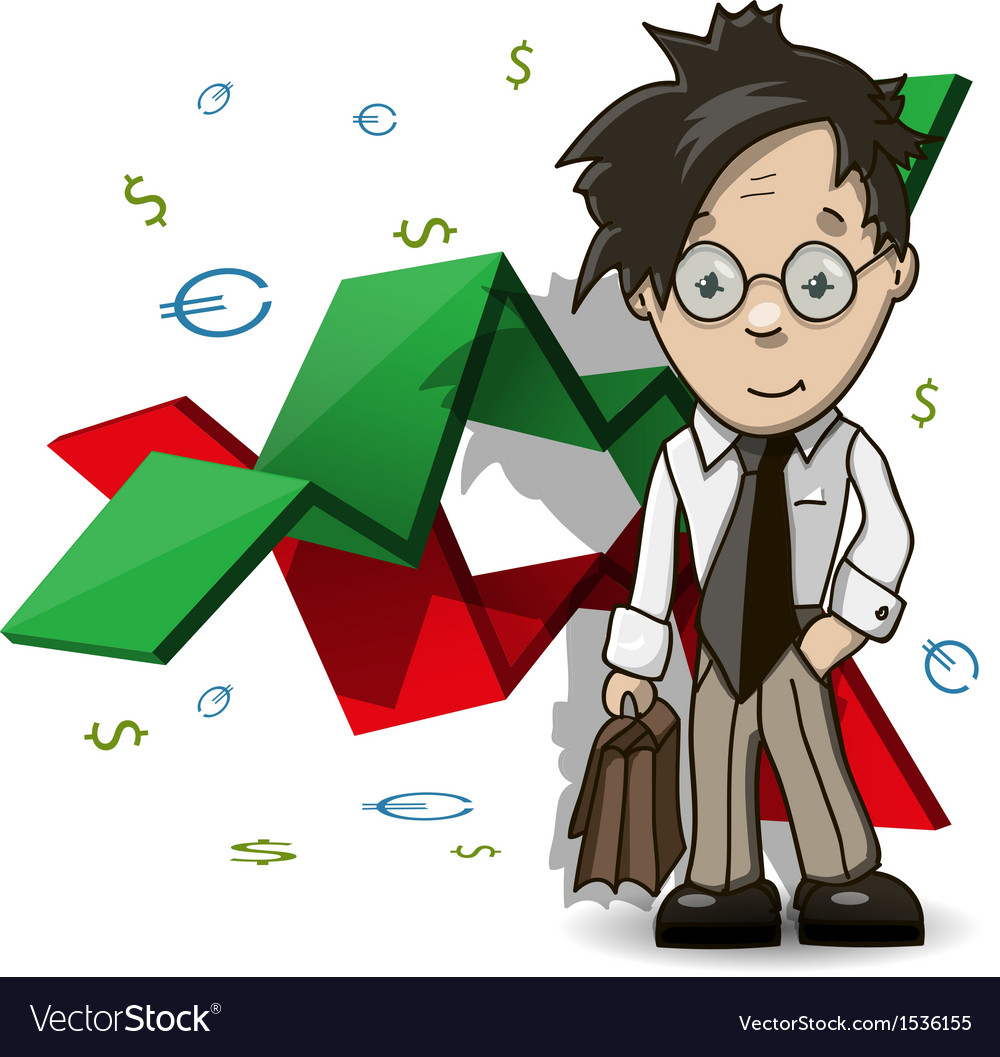 Financial analyst vector | Price: 1 Credit (USD $1)