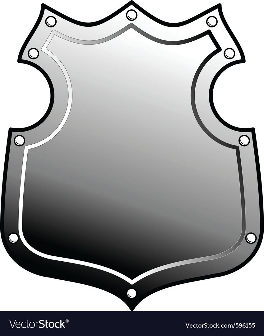Heraldic metal shield vector | Price: 1 Credit (USD $1)