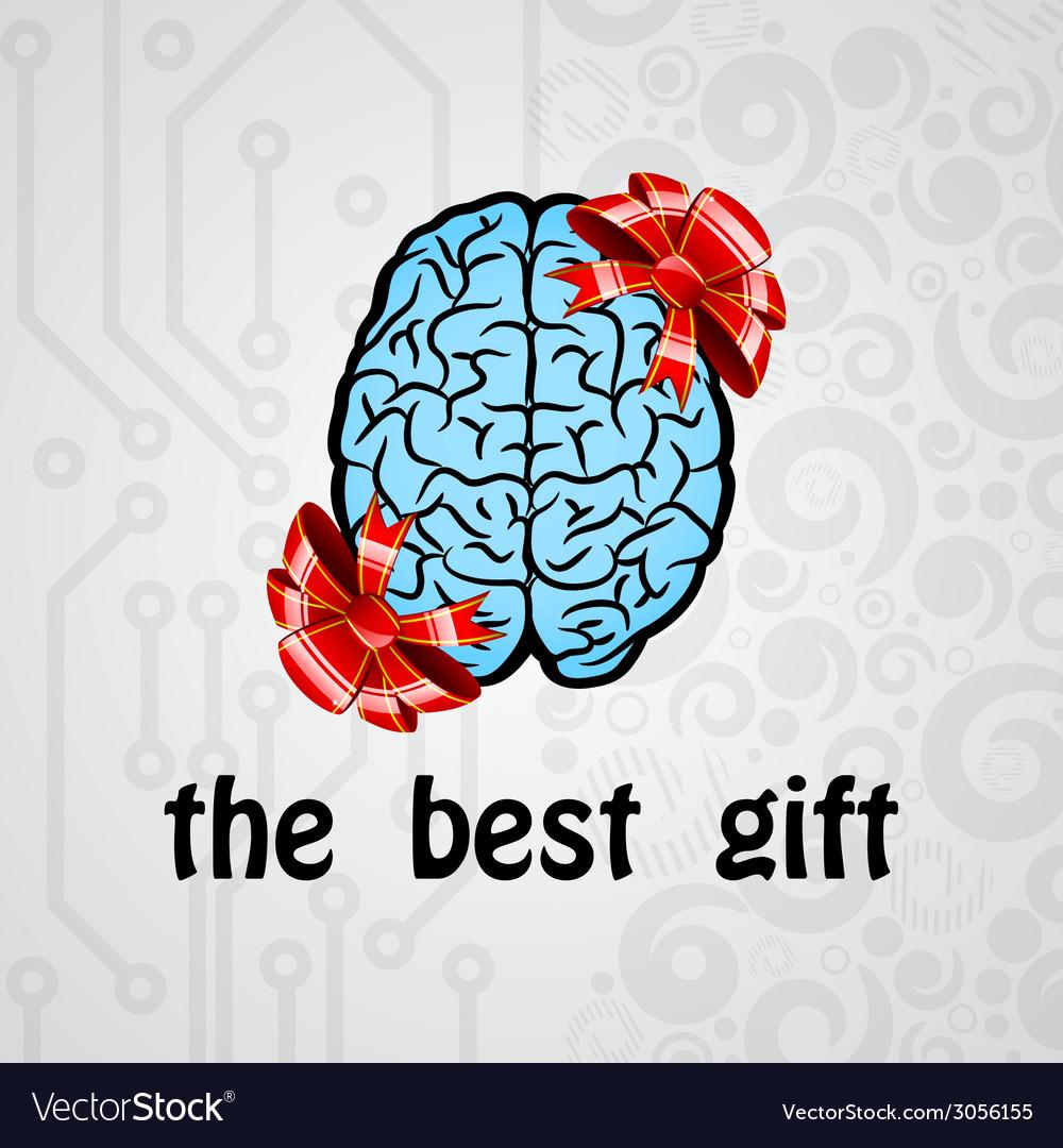 Human brain gift vector | Price: 1 Credit (USD $1)