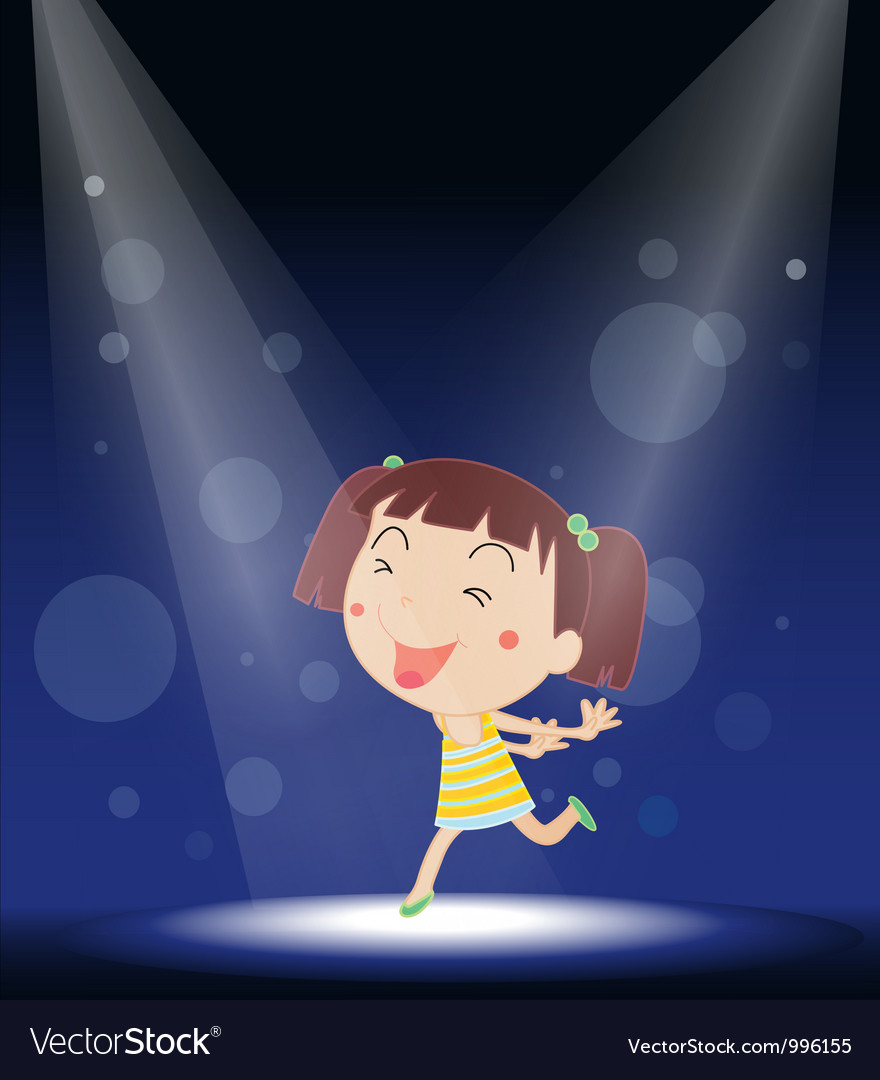 Little girl stage performance vector | Price: 1 Credit (USD $1)