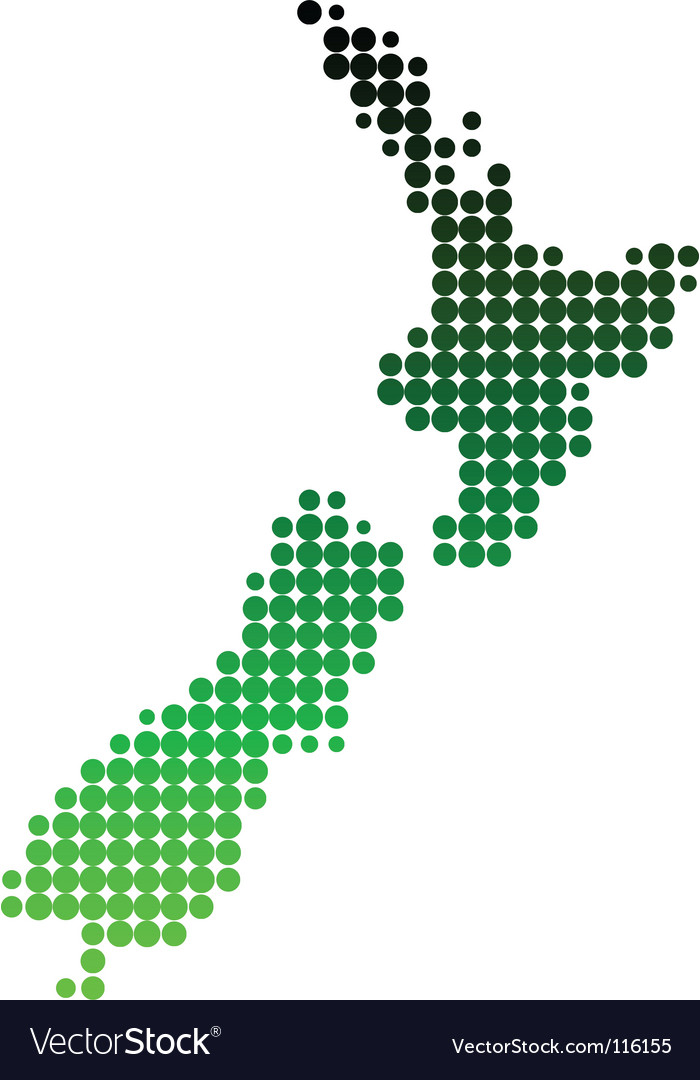 Map of new zealand vector | Price: 1 Credit (USD $1)