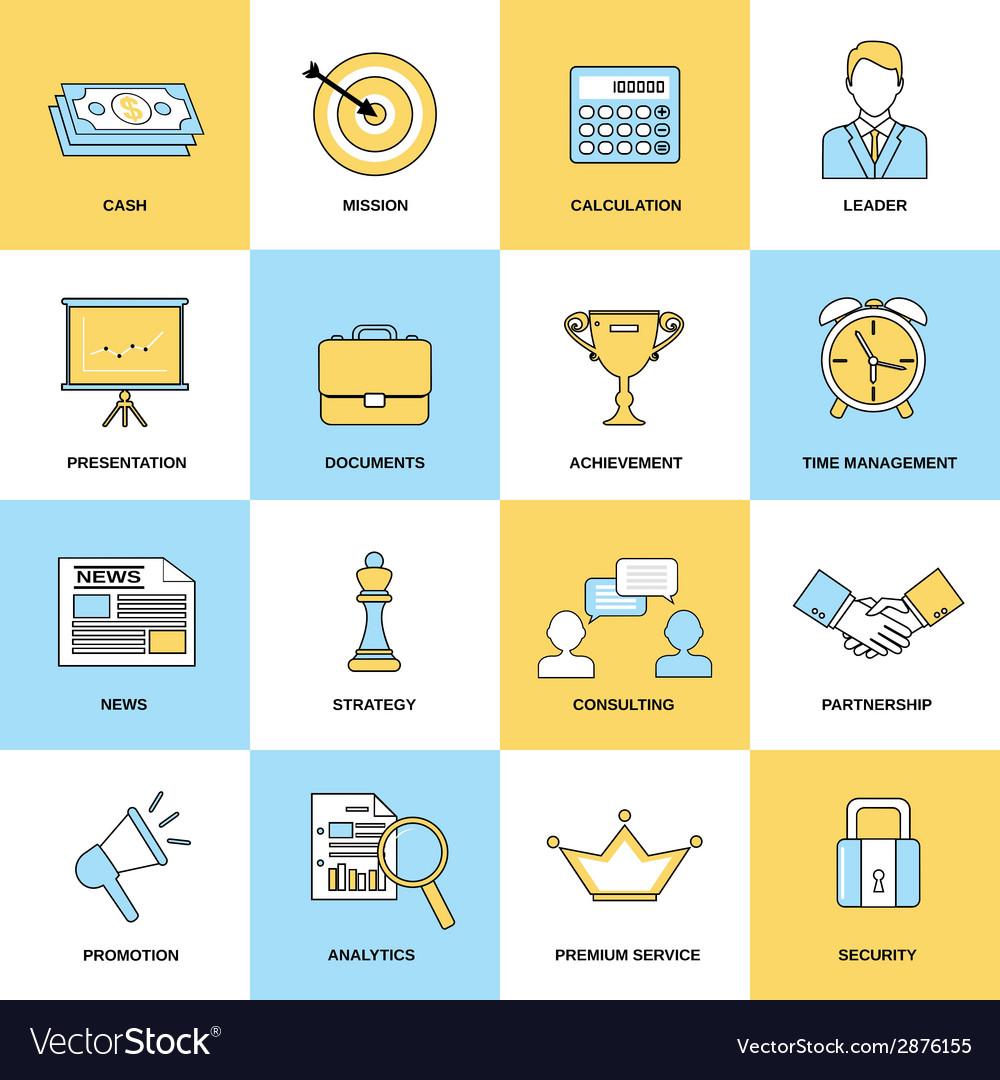 Marketing icons set vector | Price: 1 Credit (USD $1)