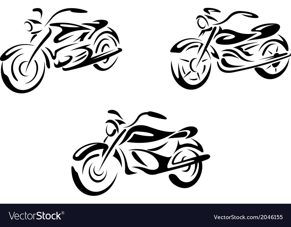 Motorcycles and bikes vector | Price: 1 Credit (USD $1)