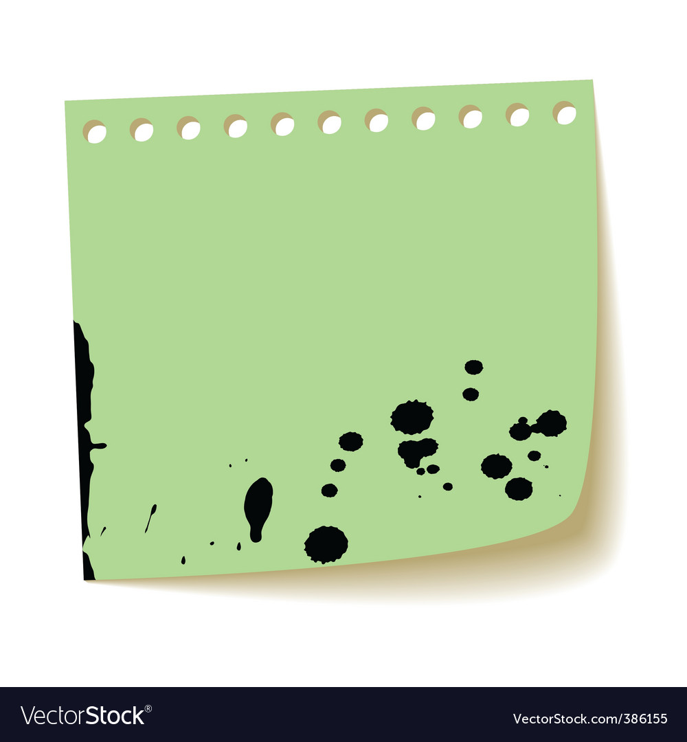 Paper sheet with splash ink vector | Price: 1 Credit (USD $1)