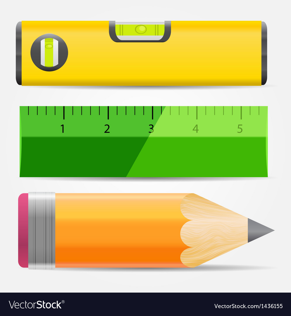 Pencillevel and ruler icon vector | Price: 1 Credit (USD $1)