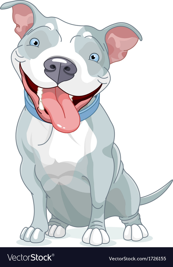 Pit bull dog vector | Price: 1 Credit (USD $1)