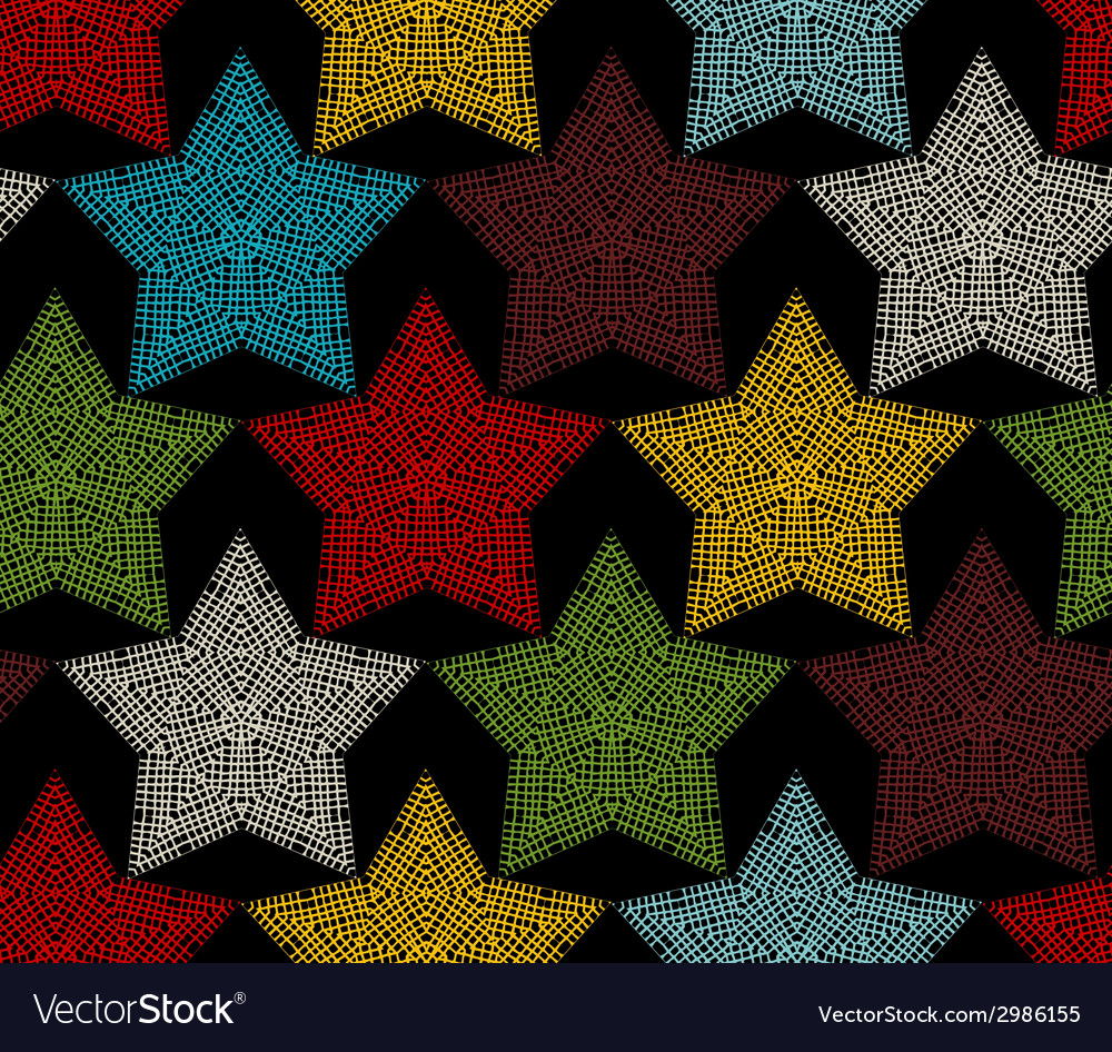 Seamless pattern of crochet stars vector | Price: 1 Credit (USD $1)